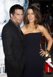 Kate Beckinsale and Len Wiseman Stock Images