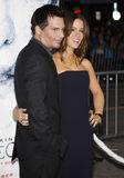 Kate Beckinsale and Len Wiseman Royalty Free Stock Images