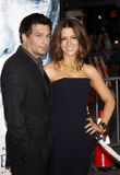 Kate Beckinsale and Len Wiseman stock photo