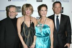 Kate Capshaw, Rita Wilson, Steven Spielberg, Tom Hanks Fotografía de archivo libre de regalías