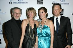 Kate Capshaw, Rita Wilson, Steven Spielberg, Tom Hanks Stock Photography