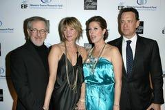 Kate Capshaw, Rita Wilson, Steven Spielberg, Tom Hanks Fotografía de archivo
