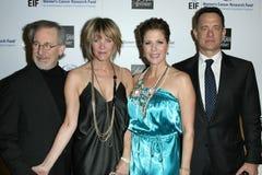 Kate Capshaw, Rita Wilson, Steven Spielberg, Tom Hanks Stock Image