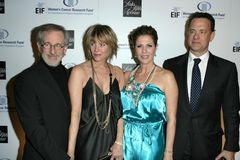 Kate Capshaw, Rita Wilson, Steven Spielberg, Tom Hanks Stock Photo