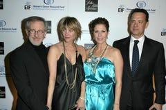 Kate Capshaw, Rita Wilson, Steven Spielberg, Tom Hanks Stock Photo