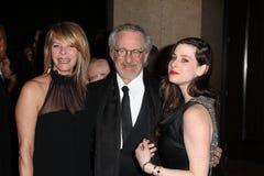 Kate Capshaw, Sasha Spielberg, Steven Spielberg Fotografía de archivo libre de regalías
