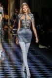 Kate Grigorieva walks the runway during the Balmain show Royalty Free Stock Images