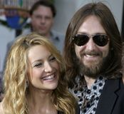 Kate Hudson e Chris Robinson imagem de stock royalty free