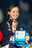 Kate Ledecky (Etats-Unis) Photographie stock libre de droits