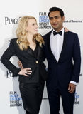 Kate McKinnon and Kumail Nanjiani. At the 2016 Film Independent Spirit Awards held at the Santa Monica Beach in Santa Monica, USA on February 27, 2016 Stock Photography