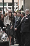 Kate Middleton chega no hotel de enesgamento fotografia de stock royalty free
