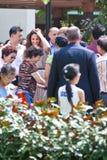 Kate Middleton e príncipe William que encontra os wishers bons, Sept 12 2012 de Singapura Imagens de Stock