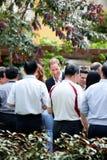 Kate Middleton et prince William rencontrant les wishers bons, septembre 12 2012 de Singapour Images stock
