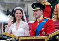 Kate Middleton, principe William Fotografie Stock Libere da Diritti