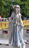 Kate Moir as Marie Antoinette at The World Buskers Festival royalty free stock photography