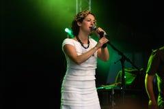 Kate Rusby, cantante di piega contemporaneo inglese Fotografia Stock Libera da Diritti