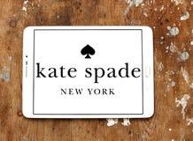 Kate Spade fashion brand logo. Logo of Kate Spade fashion brand on samsung tablet Royalty Free Stock Photo