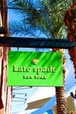 Kate Spade Logo On Store Front Sign Arkivbilder