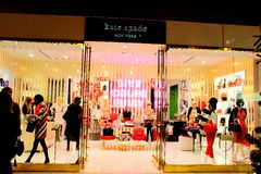 Kate Spade New York. Is known the world over for their bold and stylish designer clothing, designer shoes, women fashion accessories and more Royalty Free Stock Image