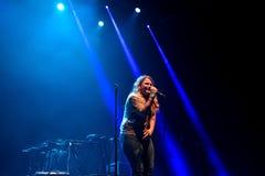 Kate Tempest-de dichter, de dramaticus, rapper en de opnamekunstenaar presteren bij Sonarfestival royalty-vrije stock fotografie