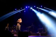 Kate Tempest-de dichter, de dramaticus, rapper en de opnamekunstenaar presteren bij Sonarfestival royalty-vrije stock foto