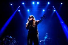 Kate Tempest (dichter, dramaticus, rapper en opnamekunstenaar) presteert bij Sonarfestival royalty-vrije stock afbeelding