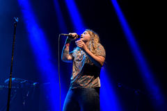 Kate Tempest poet, playwright, rapper and recording artist performs at Sonar Festival Stock Image