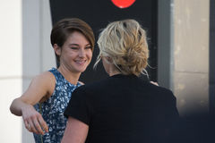 Kate Winslet and Shailene Woodley Walk of Fame Stock Photography