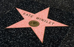 Kate Winslet star on the Hollwyood Walk of Fame Stock Photos