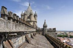 Katedra à ‰ vora w Portugalia Zdjęcia Stock