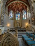 Katedra Świątobliwy Helena, wnętrze fotografia royalty free