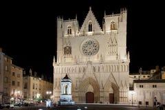Katedra świątobliwy John w Lyon Fotografia Stock