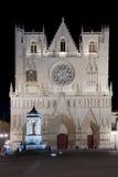 Katedra świątobliwy John w Lyon Zdjęcia Royalty Free