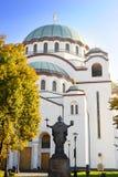 Katedra Świątobliwy Sava Obrazy Stock