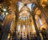 Katedra święty Eulalia Zdjęcia Stock