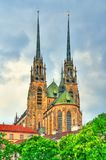 Katedra święty Peter i Paul na Petrov wzgórzu w Brno, republika czech zdjęcia stock