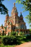 Katedra święty Peter i Paul na przedmieściach St Petersburg obraz royalty free