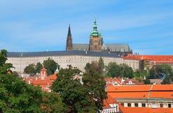 Katedra święty Vitas od Vrtbovska ogródu Obraz Royalty Free