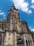Katedra święty Vitus, Wenceslaus i Adalbert w Praga, obrazy stock