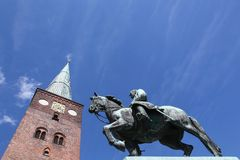 Katedra Aarhus, Dani Obraz Royalty Free