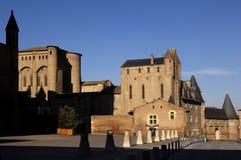Katedra Albi Tarn Pyrenees i kasztel, Francja Obrazy Royalty Free