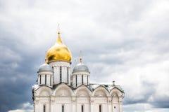 Katedra archanioł Michael w Kremlin na słonecznym dniu Obraz Stock