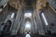 Katedra Asti, wnętrze Obraz Stock