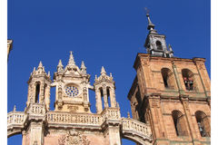 katedra astorga Hiszpanii Obrazy Royalty Free