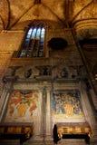 Katedra Barcelona w Gockiej ćwiartce: Santa Cruz katedra Eulalia i święty obraz stock