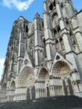Katedra Bourges, Francja Fotografia Royalty Free