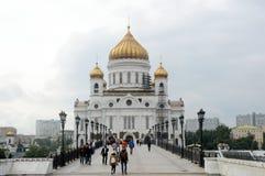 Katedra Chrystus wybawiciel w Moskwa wieczór Fotografia Royalty Free