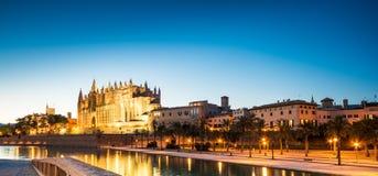 Katedra de Santa Maria w Palmie de Mallorca Hiszpania obraz stock