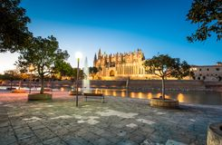 Katedra de Santa Maria w Palmie de Mallorca Hiszpania fotografia royalty free