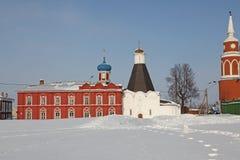 Katedra egzaltacja krzyż przy Uspensky Brusensky klasztorem w Kolomna Kremlin Kolomna, Moskwa Oblast, Rosja Zdjęcia Royalty Free